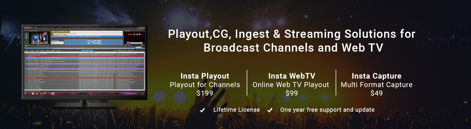 Indytek | Playout Software | WebTV | Capture Software | Ingest